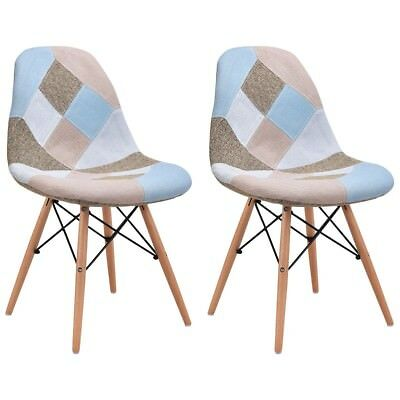 Phenomenal Giantex Set Of 2 Dining Chairs Fabric Upholstered Armless Gmtry Best Dining Table And Chair Ideas Images Gmtryco