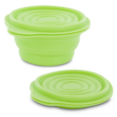BPA-Free 1.5 Cup Collapsible Silicone Container with Lid, Lime