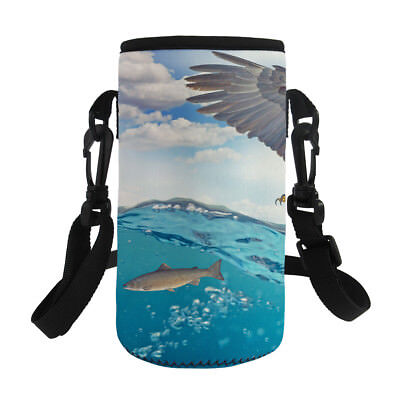 Hiking Cycling Portable Water Bottle Sleeve Pouch Strap Neoprene Insulated Tote