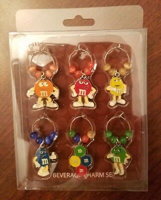 M&M's World Official Beverage Charm Set with M&M Character Figural Charms, Beads