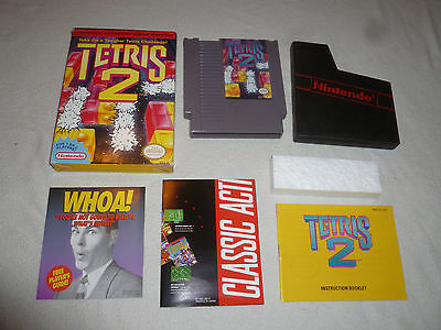 Boxed Nintendo Nes Tetris 2 Video Game W Box & Manual Complete