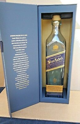Johnnie Walker Blue Label Bottle With Box 750ml empty