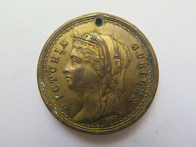 1887 AUSTRALIAN MEDALET ISSUED for QUEEN VICTORIA'S 50th GOLDEN JUBILEE