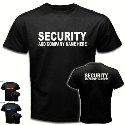 Add Your Company Name* Custom Personalized SECURITY Bar club staff Tees T-SHIRT