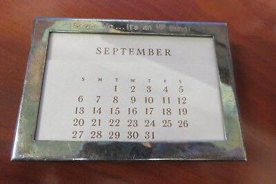 7UP Advertising Vintage TIFFANY & CO SILVER PLATE PERPETUAL CALENDAR an up thing