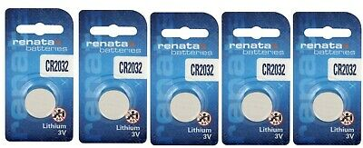 5 x Renata CR2032 DL2032 3V Lithium Coin Cell Battery Long Lasting 2032