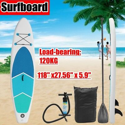 300cm SUP Board Stand Up Paddle Surf-Board aufblasbar inkl. Paddling Paddel NEU