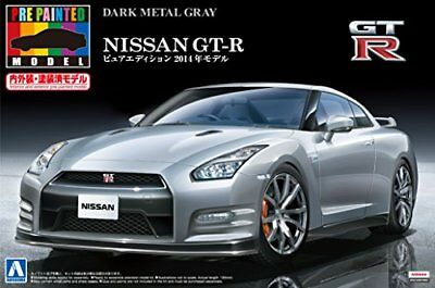 Aoshima 1/24 Scale Model Pre-painted Car Kit Nissan GT-R R35 '14 Dark Meta... JP