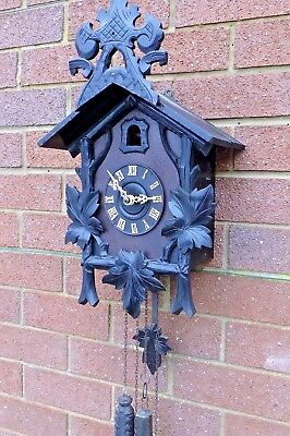 Antique Cuckoo clock working 1875 to 1890
