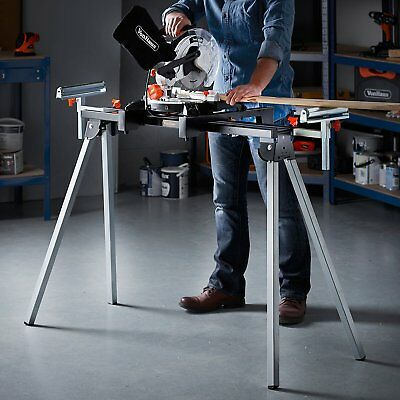 Evolution Mitre Saw Stand Bench Table w/ Extensions Folding Workstation Garage