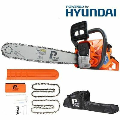 "P1PE P6220C 62cc / 20"" Petrol Chainsaw - Powered by Hyundai 