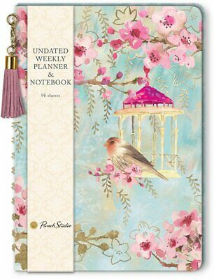 Punch Studio E8 Undated 6x8.5in Weekly Planner Journal 45923 Chinoiserie Garden