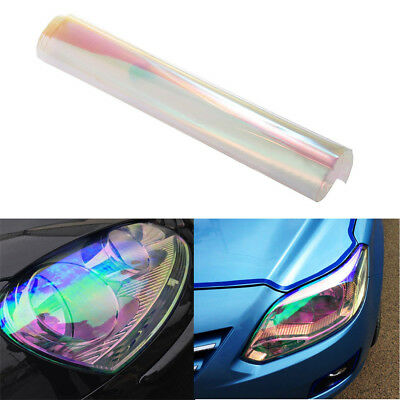 Autos Tailight Headlight Chameleon Colorful Clear Tint Vinyl Film Cover 200x30cm