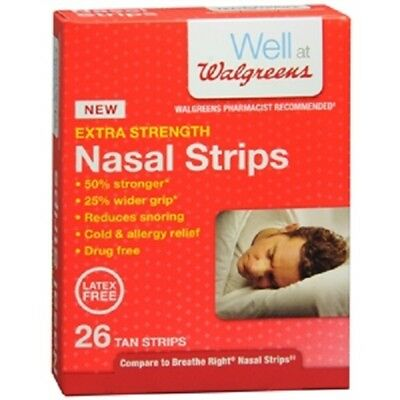 1 Well at Walgreens Extra Strength Nasal Strips 26 Tan Strips