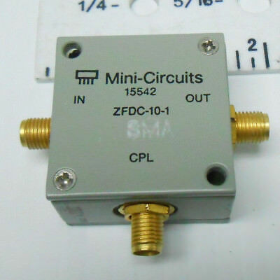 Zfdc-10-1 Mini Circuits Directional Coupler Sma 3 Terminals New Old Stock