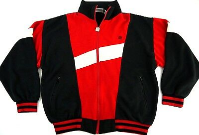 VINTAGE GIVENCHY sweatsuit COLOR BLOCK full zip track jacket sweatshirt mens L