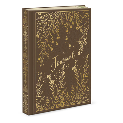 Punch Studio E8 Faux Leather Hard Cover Journal 6x8.5in - Botanical Spring 45990