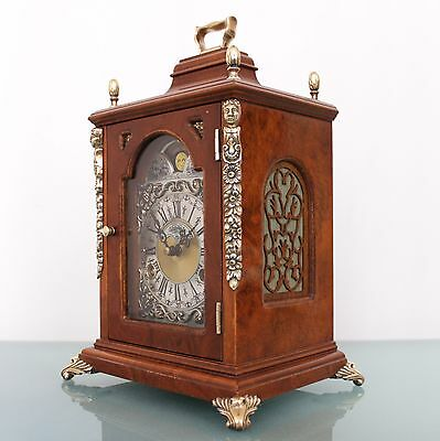 WARMINK MANTEL CLOCK TOP! SQUARE Dutch Moonphase HIGH GLOSS 2 Bell CHIME Vintage