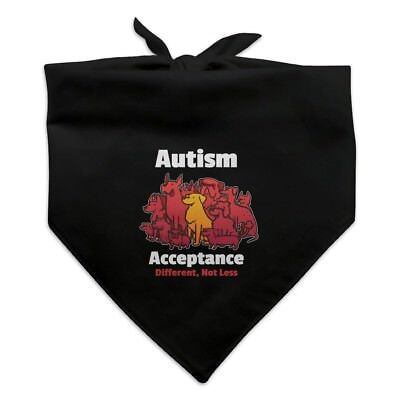 Autism Acceptance Different Not Less with Cute Dogs Dog Pet Bandana