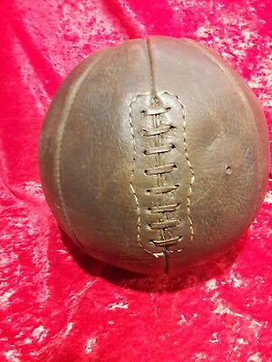 Awesome Early Old Antique 1930's Leather Laced Basketball Vintage