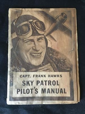 1935 Captain Frank Hawks Pilot Manual Post Cereal Airplane Comic