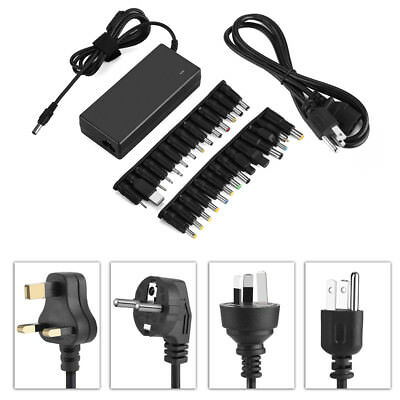 Universal 90W AC Power Supply Adapter Transformer Charger + 28 Tip for Laptop CO