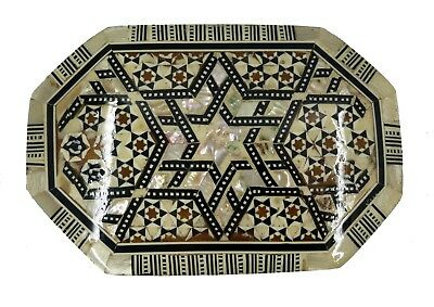 Egyptian Mother Of Pearl Octagon Jewelry Box - Egyptian Collectible