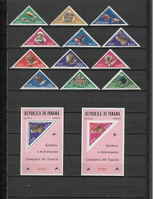 s21933) PANAMA 1964 MNH**  Space  12v. + 1 S/S + 1 S/S IMPERFORATED