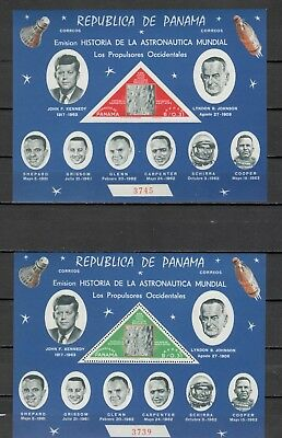 s21937) PANAMA 1965 MNH**  Space exploration s/s + s/s imperforated