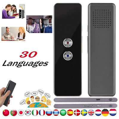 Intelligent Smart Real Time Voice Translator 16/30 Languages Two-Way w/Earphone
