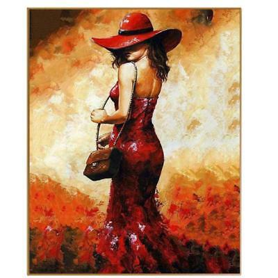Abstract Pictures Oil Painting By Numbers Fashion Woman Landscapes Art On Canvas