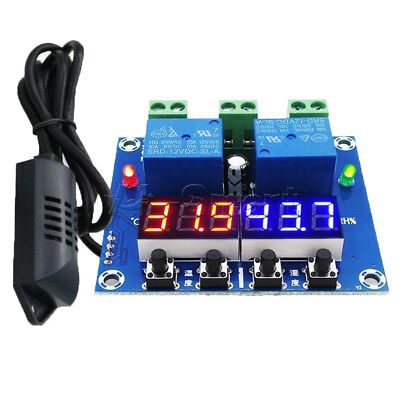 LED Digital Display DC 12V Dual Output Thermostat Temperature Controller XH-M452