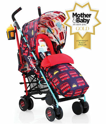New Cosatto supa pushchair in hustle bustle with footmuff & raincover from birth