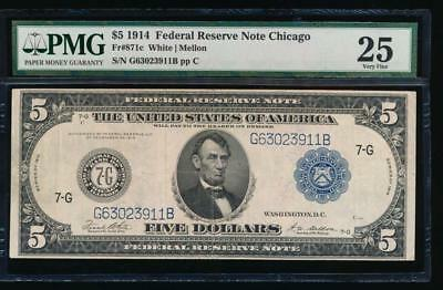 AC Fr 871c 1914 $5 Chicago FRN PMG 25 comment