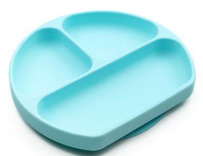 Brand new in box Bumkins silicone grip sectioned suction dish is Blue