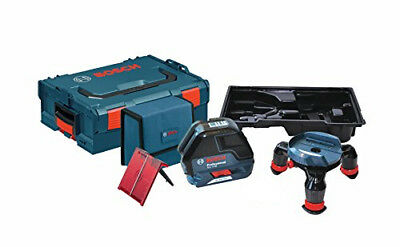 Bosch GLL3-50 Self-Leveling Three Line Laser with Layout Beam L-boxx & pouch
