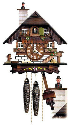 Herr 65/13 Cuckoo Clock.. New! (German/black Forest) Animated Movement