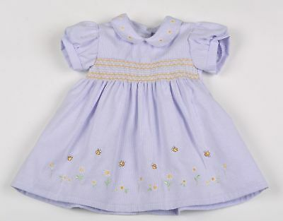 Baby girl dress Traditional smocked spanish style watch me grow 1 year 18m 2yr