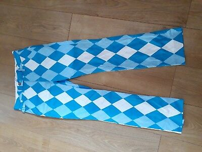 Brand new royal and awesome funky womens golf trousers fancy dress pub golf  10 7a6090ec9d