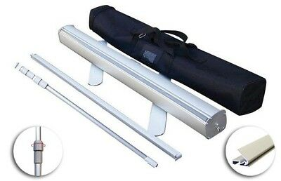 """Retractable Pull Up Banner Stand 33"""" With Padded Carry Case"""