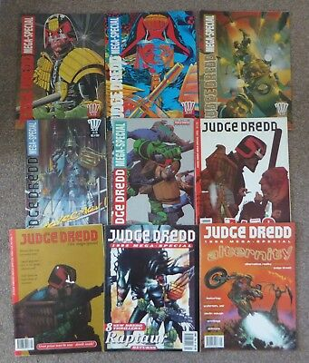 2000AD Judge Dredd Mega Special COMPLETE SET 1 to 9