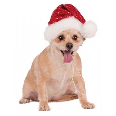 Sequin Santa Hat Costume Accessory Pet Christmas