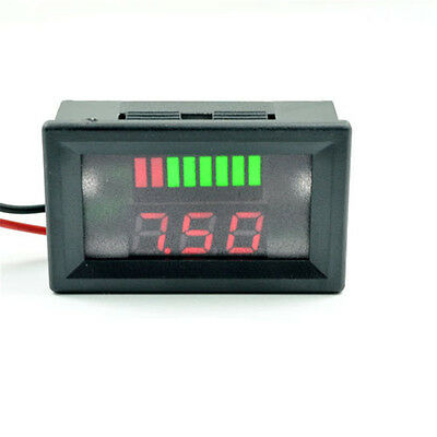 UK 12V Lead-acid Battery Indicator Intuitive Voltage Display LED Display Meter