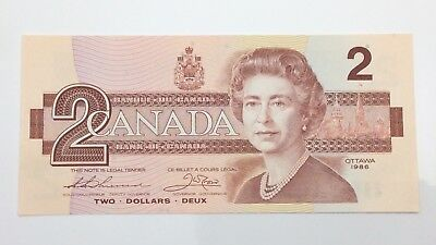 1986 Canada 2 Two Dollar EBH Prefix Canadian Circulated Banknote E944