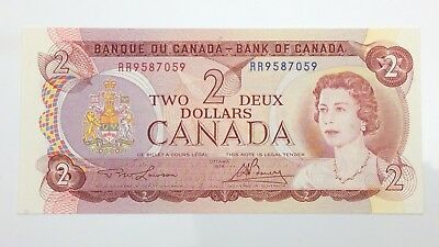 1974 Canada 2 Two Dollar RR Prefix Canadian Uncirculated Banknote E957