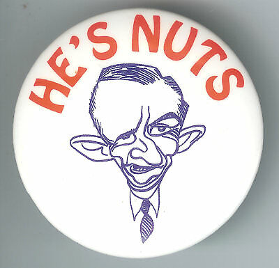 Ross Perot Caricature Pin ~ HE'S NUTS