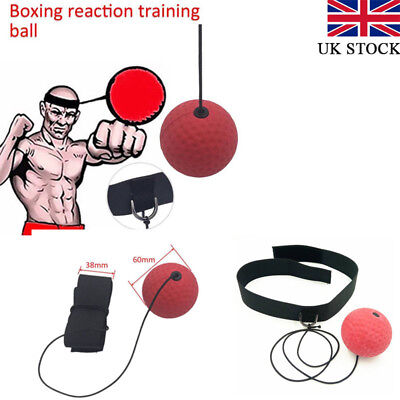 Fight Ball With Head Band Reflex Speedball For Training Boxing Punch Exercise UK