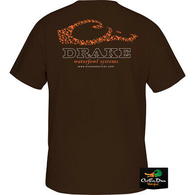 2ca9fcd23c3a6 Drake Waterfowl Drake Duck Head Logo Short Sleeve T-Shirt Chocolate Large