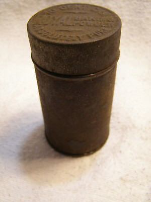 """Vintage Antique Empty 10 Cent Can Royal Baking Powder Tin Absolutely Pure 3"""" Tal"""