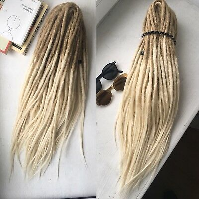 Synthetic ombre double ended dreadlocks